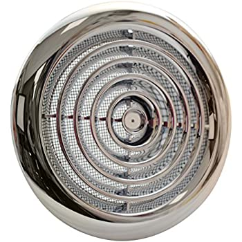 2100c internal ventilation grille round chrome 4 100mm - Bathroom exhaust fan duct reducer ...