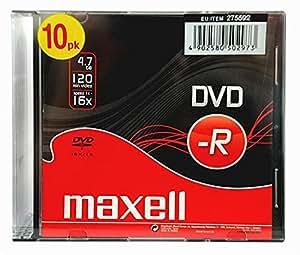 Maxell DVD-R Capacité 4,7 Go / 120 min Vitesse 16x Boîtiers fins Lot de 100 (Import Allemagne)