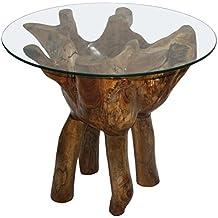 Suchergebnis Auf Amazon De Fur Couchtisch Wurzelholz Glas