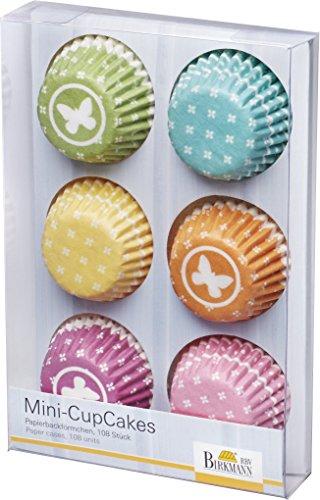 Birkmann 442207 Mini-Cupcake Papierförmchen Vintage Memories, 108 Papierförmchen