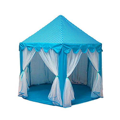 owikar Princess Castle Play Zelt House Tragbarer Kinder Indoor Outdoor Play Fun ideal Fairy Sechseck House Pretend Spielzeug für Mädchen Kinder Kleinkinder Geschenk Raum Justin Schlafanzug