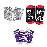 Surenhap Unisex Neuheit Socken Funny Satz Master Has Given Dobby a Sock, Dobby is Free Socken One Size für Harry Potter' Fans Damen Herren (A - 3 Paar)