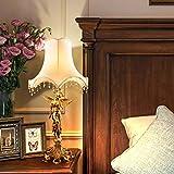 Francese Giardino Pieno-ottone Lampada/Angel Tavolo Lampada Continentale Arte Rame Puro-A