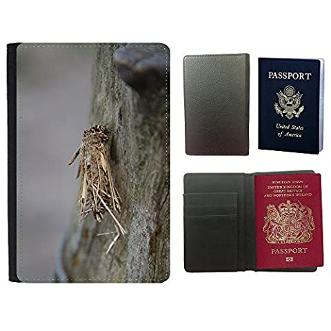 Grand Phone Cases Hot Style PU Leather Travel Passport Wallet Case Cover // M00142478 Insect Grub Bug Twigs Caterpillar // Universal passport leather cover