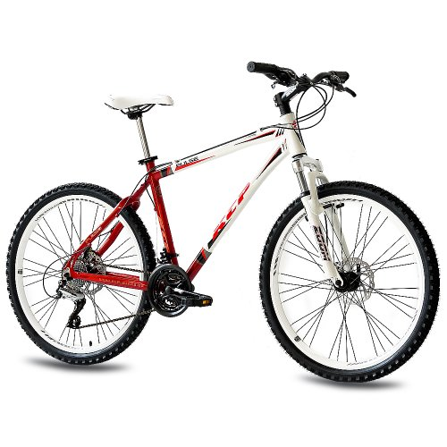 26 KCP MOUNTAIN BIKE PULSE ALLOY 24 SPEED SHIMANO UNISEX WHITE RED   (26 INCH)