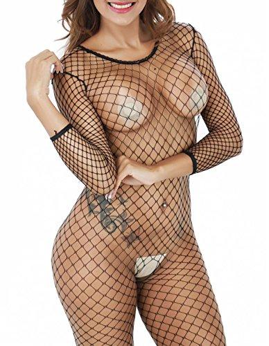 Buauty Black Fishnet Long Sleeve...