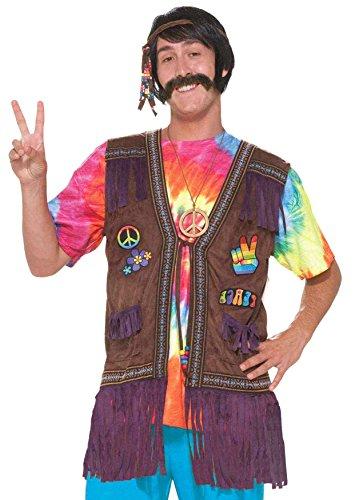Forum 60er 70er Jahre Hippie Kostüm Weste mit Fransen für Männer Erwachsene (Kostüm Weste Hippie Fransen)