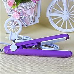 RVS Fashion Mini Hair straightener Iron Pink Ceramic -Color4