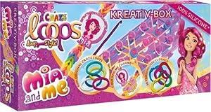 CRAZE Loops MIA and Me Creativa Caja Anillos de Silicona Anillos de Nudos Incluye Accesorios Niñas Joyas DIY Pulsera 51581 Multicolor