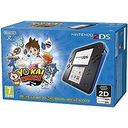 Nintendo 2DS, Nero/Blu + Yo-Kai Watch Preinstallato [Bundle]