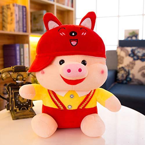 Moonyue Niedliche gedrehte Schwein Puppe Schwein Plüschtier Schwein Puppe Schwein Schlafzimmer Wohnzimmer Dekoration kreative Kissen Mädchen Geburtstagsgeschenk 110 cm Fuchs gedrehte Schwein