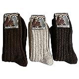 3 Paar Alpaka & Wolle Socken 100% extra dick weich Grob gestrickt (39-42)