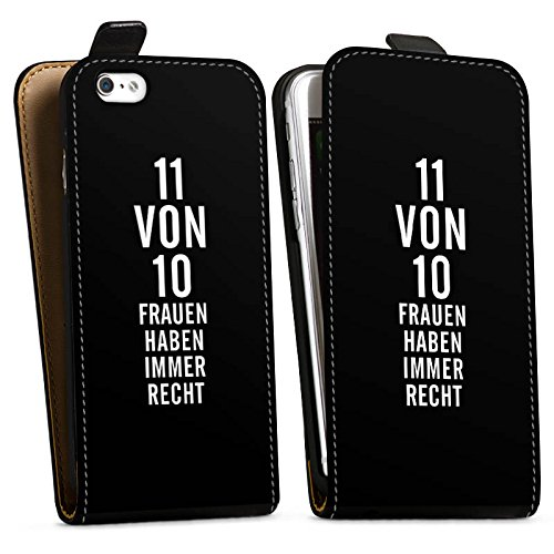 Apple iPhone X Silikon Hülle Case Schutzhülle Lustig Frauen Sprüche Downflip Tasche schwarz