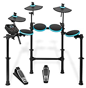 ALESIS 5-Piece Electronic Drum Set with Collapsible 4-Post Rack (Drum Sticks Included)