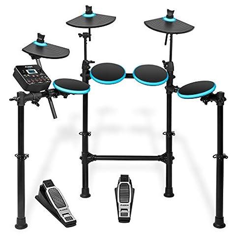 Alesis DM Lite Kit Komplettes E-Drumset mit zusammenklappbarem Rack, USB MIDI Drumsound Modul, Drum