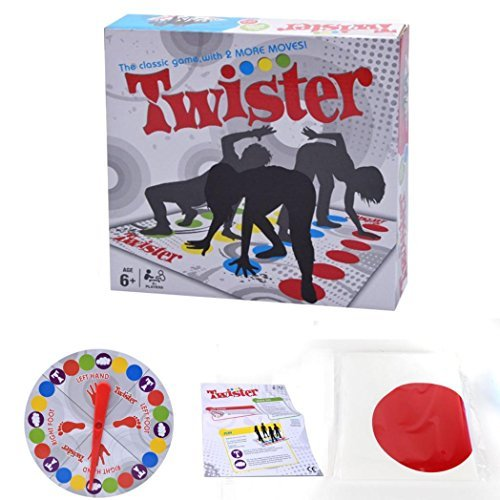 Twister, gioco per famiglie, gioco da pavimento, ideale per le feste [lingua italiana non garantita]