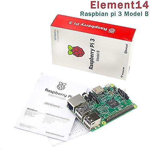 Raspberry Pi Modelo B de 3Module 1.2GHz 1GB de RAM 64bit CPU WiFi y Bluetooth Le