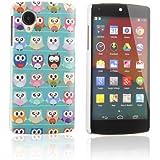 tinxi® Harte ABS-Kunststoff Schutzhülle für LG Google Nexus 5 E980 Hülle Schutz Case Etui Cover hardcase Rückschale mit Eule Owls