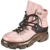 A.S.98 Damen Schnürstiefelette rosa 41