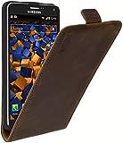 mumbi PREMIUM Leder Flip Case für Samsung Galaxy Note 4 Tasche braun