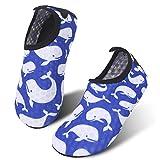 JIASUQI Kinder Strand Schwimmen Schuhe Kleinkind Barfuß Aqua Socken Wassersport Schuhe Weißer Delphin, 26/27 EU
