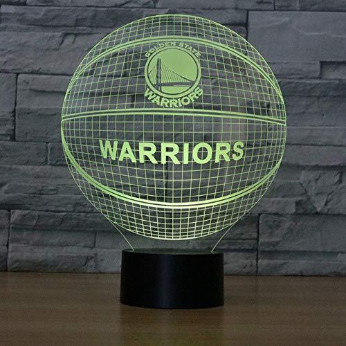 3D Nachtlicht Stephen Curry American Basketball Club Lampe Usb Led Tischleuchte Nachtlicht (Curry Club)