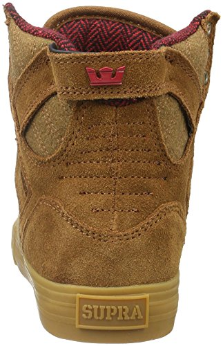 Supra Herren Skytop High-Top Braun (BROWN / RED - GUM 239)