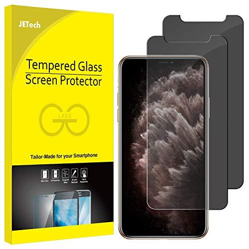 JETech Privacy Pellicola Protettiva Compatible iPhone 11 PRO, iPhone XS e iPhone X 5,8', Anti Spy in Vetro Temperato, Pacco da 2