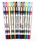 CINEEN 12 Farbe Glitter Eyeliner Pencil Lidstrich Augen Liner Eye Kosmetik Makeup Set -