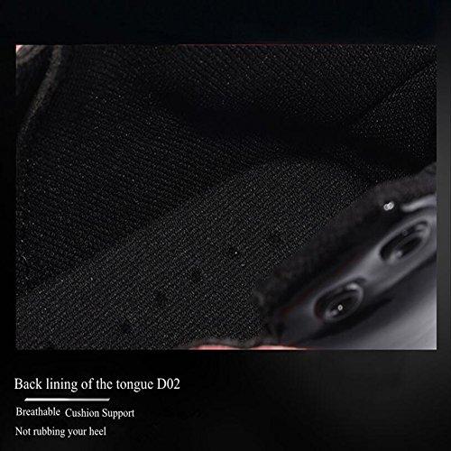 GESIMEI Uomo traspirante Pallacanestro Scarpe Confortevole In cima Scarpe da ginnastica (Si prega di verificare tabella di formato sotto l'immagine principale) Nero
