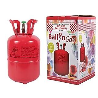 Alsino KAR-HE Heliumgasflasche Ballongas Heliumgas Einweg Helium Ballongas Geburtstag Hochzeit Folienballons für Ca. 50 Luftballons 0,42 qm³