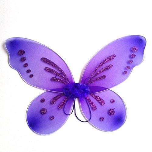 Party Fee Kostüm - Miyanuby Kinder Mädchen Schmetterling Flügel Prinzessin Engel Halloween Flügel Party Fancy Verrücktes Kleid Fee Kostüm