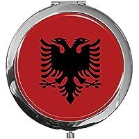 """metALUm - Extragroße Pillendose in runder Form""""Flagge Albanien"""" preisvergleich bei billige-tabletten.eu"""