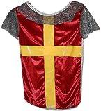 Trullala Ritterhemd, Ritterkostüm, Faschingskostüm, Größe: M in rot-gold (4-6 Jahre)