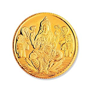 Joyalukkas 22k (916) 4 gm BIS Hallmarked Yellow Gold Precious Coin with Lord Lakshmi Design