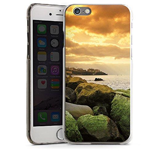 Apple iPhone 4 Housse Étui Silicone Coque Protection Côte Paysage Rocher CasDur transparent