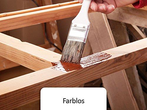 BEKATEQ BE-420 5L Holzlack seidenmatt Holz Decklack Holzschutzfarbe Holzversiegelung (Transparent)