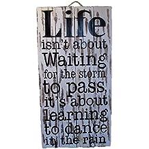 Danza en la lluvia grande pintado a mano puerta o para la pared – Shabby cd45e91432a