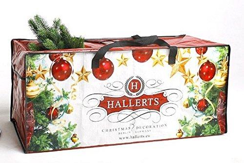 Original Hallerts Aufbewahrungstasche für künstliche Weihnachtsbäume - Lagertasche passend für Kunsttannen aus Spritzguss bis 120 cm und aus PVC Material