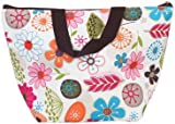 Lunch Box Bag Tote Insulated Cooler Carry Bag for Travel Picnic - Floral Pattern