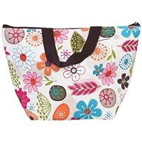 Generic - Lunch box bolsa de asas refrigerador aislado bolsa de transporte para el viaje de la comida campestre - diseño floral