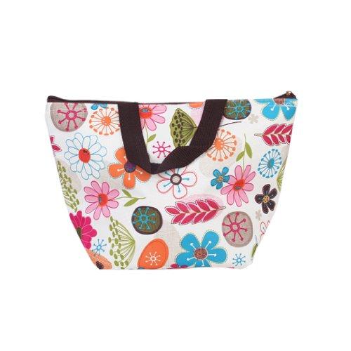 bag lunch box sacchetto isolato borsa secchiello per pic-nic viaggio (colorito fiore)