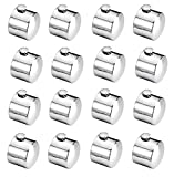 #8: SHAKS TRADERS SS finial Only (End Cap) (No Bracket) Set of 16