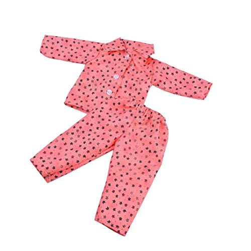 Hirolan Niedlich Pyjama Nachthemd Kleider zum 18 Zoll Unser Generation amerikanisch Mädchen Puppe Sommer Badeanzug Baden Kleider Princess Kleidung Abendkleid American Girl Puppe (G)