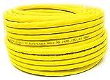 25 m - CAT. 7 A + (Cat 8) Ethernet Netzwerk LAN Kabel (Spule - Trommel) 1500 MHz - 4 Paar - High Speed - Halogen frei/kupfer/Super schnell - (PoE)/PoE + (gelb)