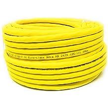 25M - Cat.7A + (Cat 8) Cable LAN de red Ethernet (Reel - Drum) 1500 MHz - 4 pares - Alta velocidad - Libre de halógeno / Cobre / Super Fast - (PoE) / PoE + (Amarillo)