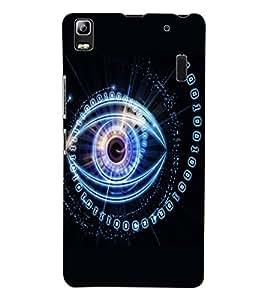 ColourCraft Digital Eye Design Back Case Cover for LENOVO K3 NOTE