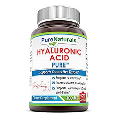 Pure Naturals Hyaluronic Acid Capsules, 100 mg, 120 Count from Pure Naturals