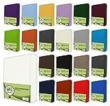 Sábanas bajeras ajustables de leevitex. Algodón 100 % en distintos tamaños y colores. Certificado de calidad Standard 100 by OEKO-TEX, 100 % algodón, Blanco, 180x200 - 200x200 cm