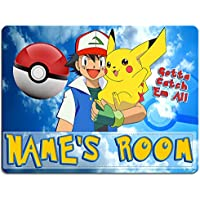 799d51d5e7 KRAFTYGIFTS POKEMON Boys Bedroom Door Sign Personalised Children s Child  Room Kids Plaque Name KD59
